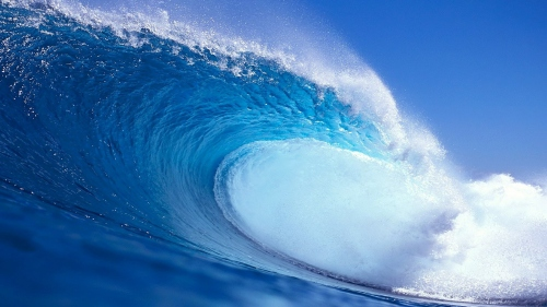 Big blue tidal wave