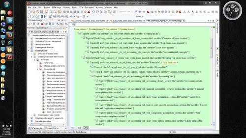 Oxygen XML Author: Map XML view in green