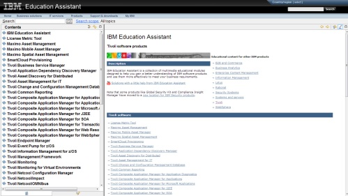 IBM Education Assistant information center