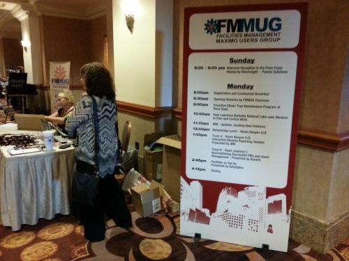 FMMUG sign with agenda