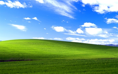 "Windows XP: Default ""Bliss"" wallpaper (2001)"