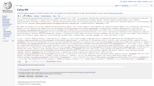 Wikipedia: Editing mode