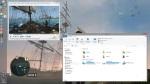 Windows 8.1 Desktop mode (with sample windows)