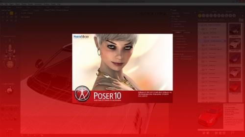 Poser 10 splash screen