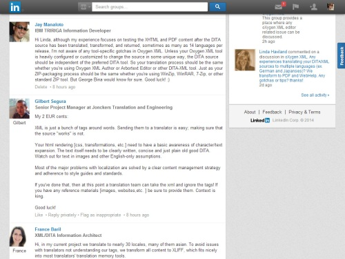 LinkedIn: oXygen XML