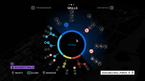 Watch Dogs: Skills Tree