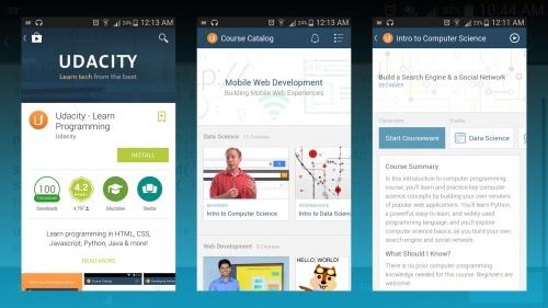 Udacity mobile app