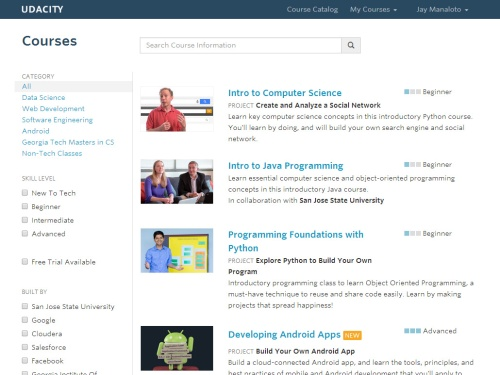 Udacity website
