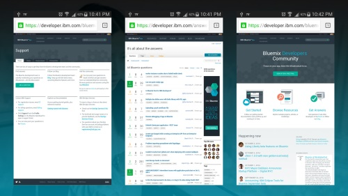 IBM Bluemix (mobile)