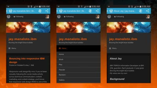 Visual theme (WordPress mobile app)
