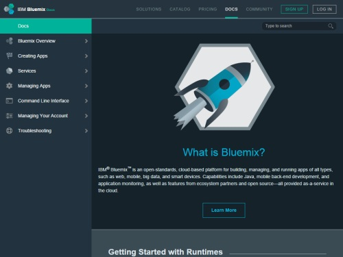 IBM Bluemix Docs (desktop)