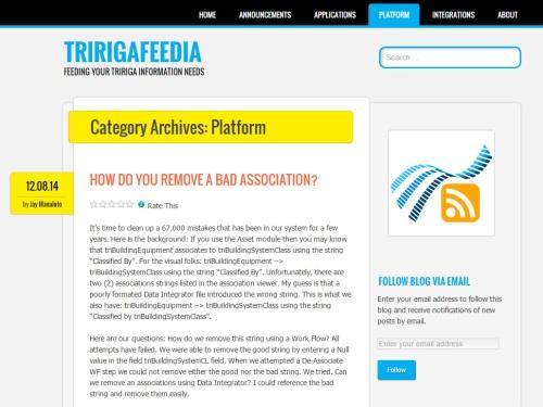 TRIRIGAFEEDIA @ WordPress