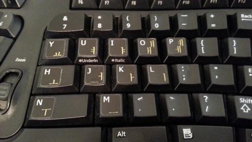 Hangul keyboard stickers