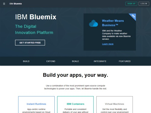 IBM Bluemix (PaaS)