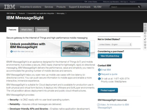 IBM MessageSight (IoT)