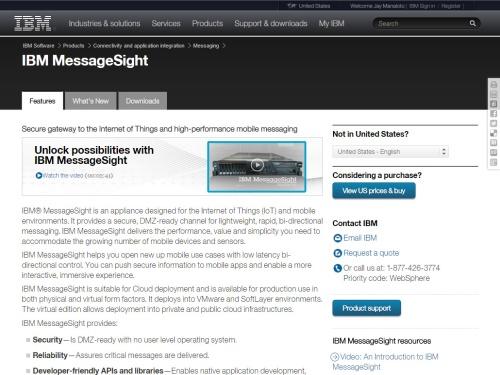 IBM MessageSight (IoT)
