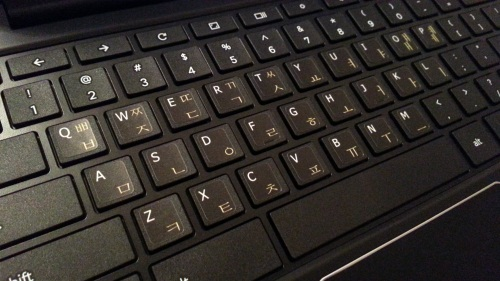 Samsung Chromebook 2 (2014) with Hangul keyboard stickers