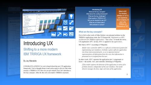 TRIRIGA UX Article 1