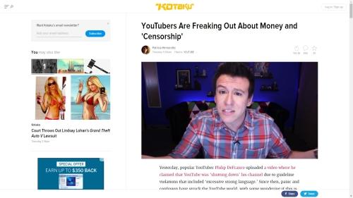 YouTube demonetizes content